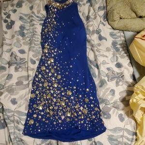 Mini Blue Sequences Dress